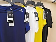 BNWT MENS ADIDAS BASE MID T SHIRT with DRYDYE & CLIMALITE 5 sizes 4 colours