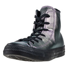 Converse Chuck Taylor All Star Hi Womens Violet Leather Casual Trainers Lace-up