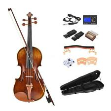 ammoon Pro Handmade Antique 4/4 Full Size Violin Kit Master 1716 Style O4L9