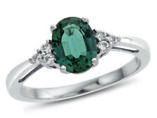 8x6mm Oval Created Emerald White Topaz Ring   R10678MUL410KW