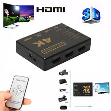 3D 5-Port 4K HDMI Switcher Switch Selector Splitte iR Remote For HDTV 1080p NEW
