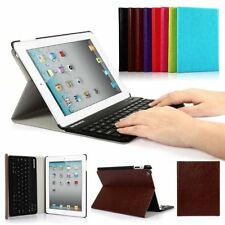 Detachable Wireless Bluetooth Keyboard PU Case Cover ABS  for Apple iPad 2 3 4