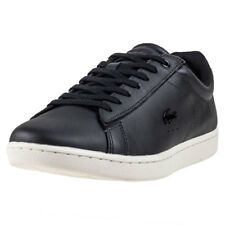 Lacoste Carnaby Evo 417 Womens Black Leather Casual Trainers Lace-up New Style
