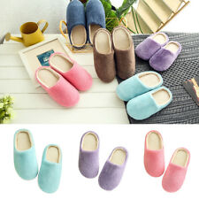 Unisex Winter Warm Soft Home Non-Silp Pure Color Slippers Indoor Shoes Striking