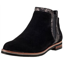 Caprice Ankle Boot Multi Womens Black Suede Casual Chelsea Boots Slip-on