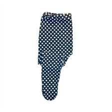 Baby Girls Navy Blue White Polka Dot Knit Tights - Preemie, Newborn, Toddlers