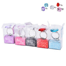 Super Big Diamond Crystal Ring Keychain Romantic Wedding Favor Party Gift toy SK