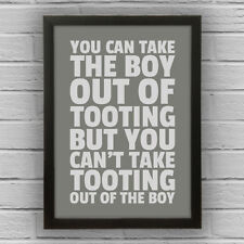 TOOTING - BOY/GIRL FRAMED WORD TEXT ART PICTURE POSTER