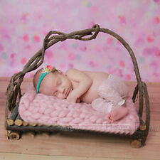 Girl Boys Newborn Baby Unisex Handmade Braided Wrapped Blanket Photography Props