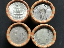 $10 Roll 90% Silver Quarters PDS Mix Washington, Liberty, Barber, Seated? Lot 20