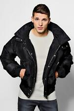 Boohoo Mens Quilted Puffer Jacket In Short Length