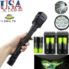 80000LM Police Tactical XM-L 7x T6 LED 5-Mode 18650 Flashlight Torch Lamp Light.