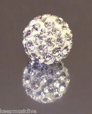 1 x Shamballa  10 mm Rhinestone Clay Discoball Bead - multiple colour choice