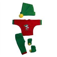 Santa's Christmas Elf 4 Piece Baby Clothing Outfit - 4 Preemie and Newborn Sizes
