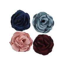 5pcs DIY Fabric Rose Flower for Hair Clips Brooch Wedding Venue Ornaments Flower