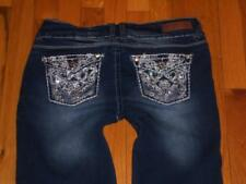 NEW Womens Jrs Wallflower Stretch Flap Pocket Jeans Cropped Capris Size 9