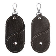 Men PU Leather Housekeeper Car Key Case Chains Rings Belt Key Loops Holder