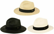 Mens Panama Wide Brim Fedora Straw Hat Indiana Jones Style Summer Cool Hat