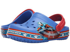 NWT Kids Crocs Crocband Captain America Relaxed Fit Clog Sandal 202678 Blue Red