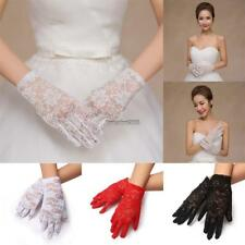 Women Wedding Party Evening Lace Floral Gloves Bridal Gloves Sunscreen ED
