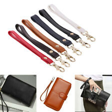 Genuine Leather Wrist Strap for Clutch Wristlet Purse Pouch Keychain 6 Colors