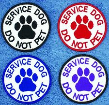 "Service Dog Do Not Pet Patch 3"" Assistance  Medical Harness Support"