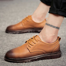 Fashion Mens Casual Comfy Fashion Oxfords Leather Leisure Oxfords Brock Shoes CA