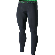 Tesla MUP09 Cool Dry Baselayer Sports Compression Pants - Charcoal/Charcoal