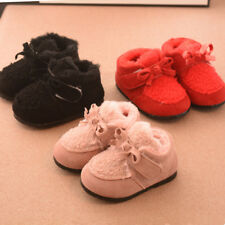 Cute Toddler Girls Winter Shoes Infant Baby Walking Shoes Kids Cotton Warm Shoes