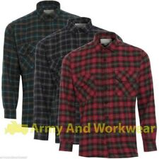 Lumberjack Woven Check Warm Flannel Work Mens Casual Working Shirt 100% Cotton