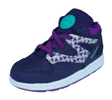 Reebok Classic Versa Pump Omnilite Kids Trainers / Hi Top Casual Shoes - Purple