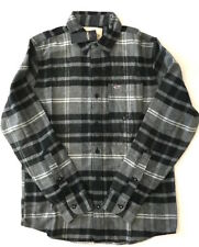 Hollister by Abercrombie Men's NWT Gray Plaid Flannel Button Down Shirt Small