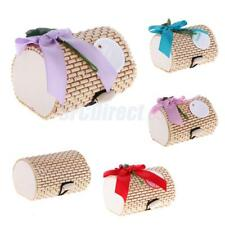 12pcs Bamboo Wooden Boxes Candy Boxes Gift Boxes Wedding Birthday Party Favors