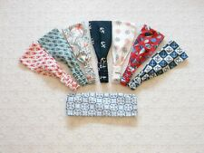 Preppy Nautical Red White Blue Fabric Wrap Headband in 8 Prints