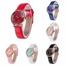 Elegant 6 Colors Stainless Steel Shiny DialQuartz Battery Waterproof Wrist Watch