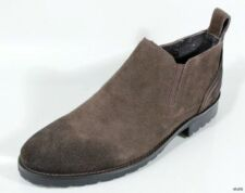 """new BACCO BUCCI """"Meredith"""" dark brown suede dress ANKLE BOOTS shoes 13"""