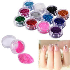 12/24 PCS MIX COLOR GLITTER DUST POWDER SET for Nail Art ACRYLIC TIPS DECORATION