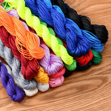 Wholesale 1-100 Hanks Premium Shamballa Nylon Braided Kumihimo Cord Thread 1mm