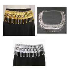 Coin Chain Metal Fringe Hip Waist BELT Belly Dance Costume Jewelry Gold Silver