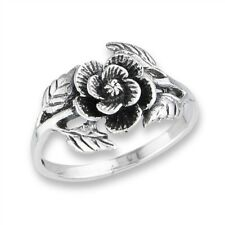 Sterling Silver Flower Vine Nature Ring Sizes 6-9