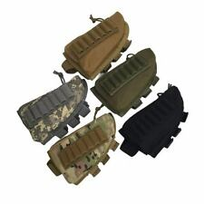Airsoft Rifle Shotgun Buttstock Shell Ammo Holder Stock Pouch Cheek Pad Tactical