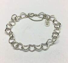 """James Avery Sterling Silver Connected Hearts Charm Bracelet 7.25"""""""