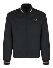 Fred Perry Men's Made In England Tennis Bomber Jacket - Black/Champagne