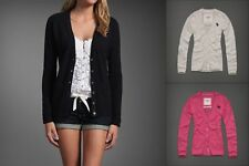 NWT $200 ABERCROMBIE & FITCH AF Women Mallory 100% Cashmere Sweater Cardigan S