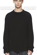 GUCCI Mens wool MOHAIR blend ZIP Shoulder CHUNKY knit sweater NWT Authentic $940