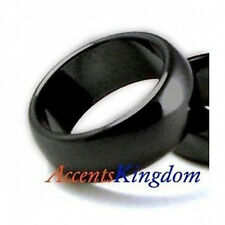 Accents Kingdom 10mm Black Magnetic Hematite Dome Band Ring Size 7-12
