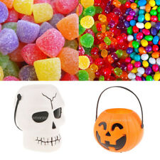 Halloween Kids Trick or Treat Candy Bucket with Carry Handle Candy Bowl Pail