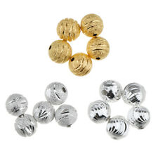 50Pcs Charming Flower Copper Round Loose Beads DIY 8mm Beads Jewelry Making
