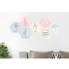 Resin Flamingo Plaque Animal Wall Art Craft Sign Board Room Kitchen Decor 4Style