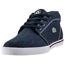 Lacoste Ampthill 118 1 Mens Chukka Boots Navy Tan New Shoes
